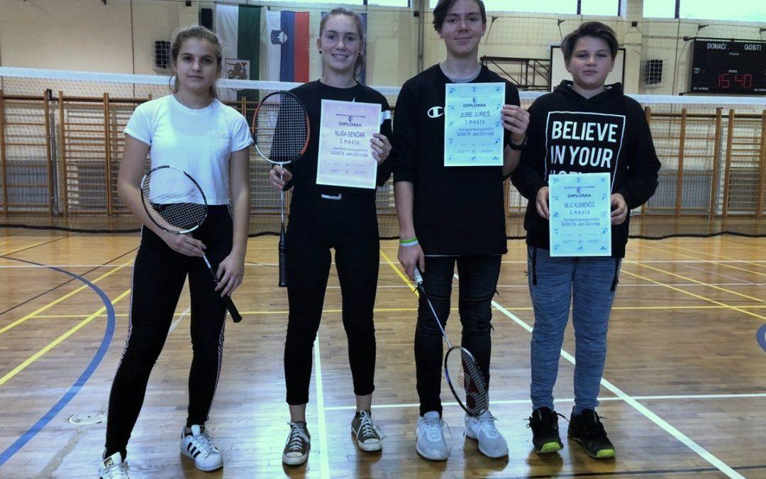 Jure Jureš medobčinski prvak v badmintonu
