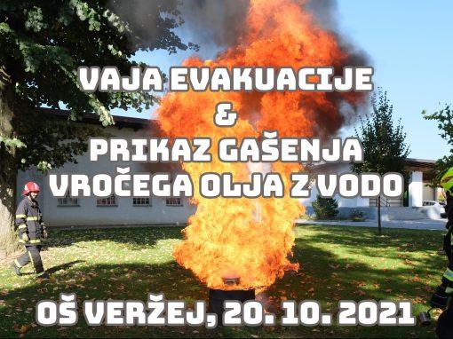 Vaja evakuacije 2021